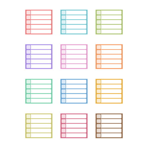 Colorful To-Do List Planner Stickers