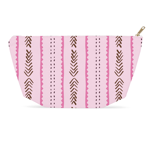 Level Up Tribe Pattern Accessory Pouch