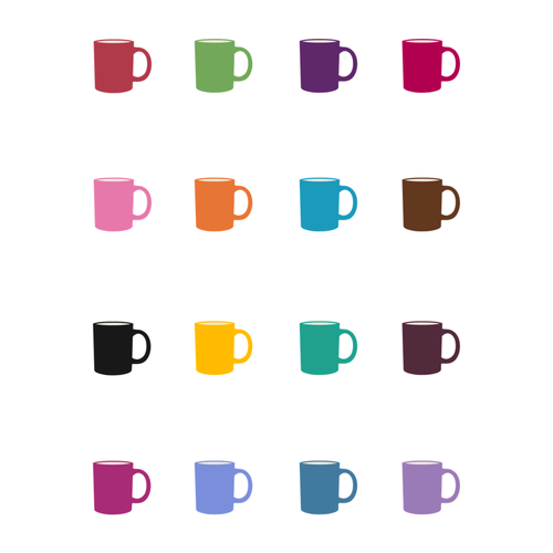 Colorful Coffee Cup Stickers