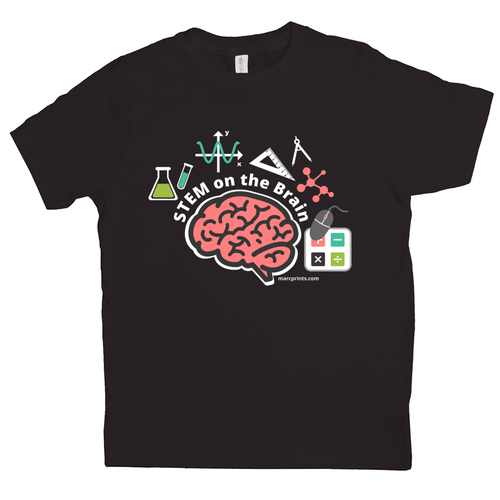 STEM on the Brain Kids T-Shirt
