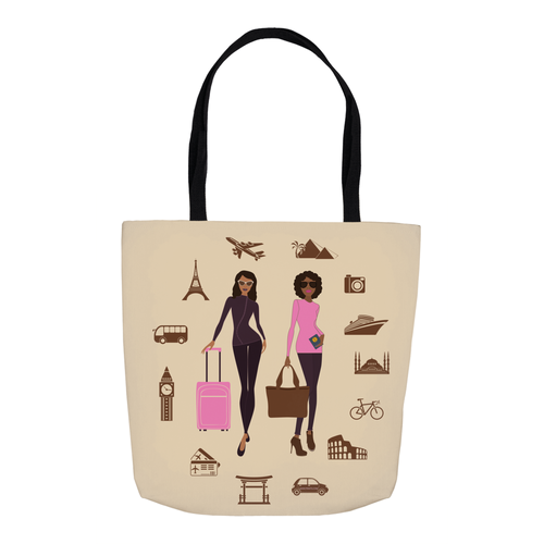 Let's Go Travel Tote Bag