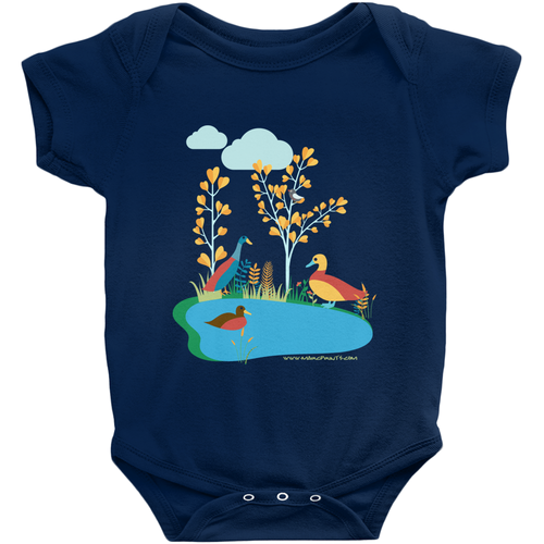 Duck Pond Baby Onesie