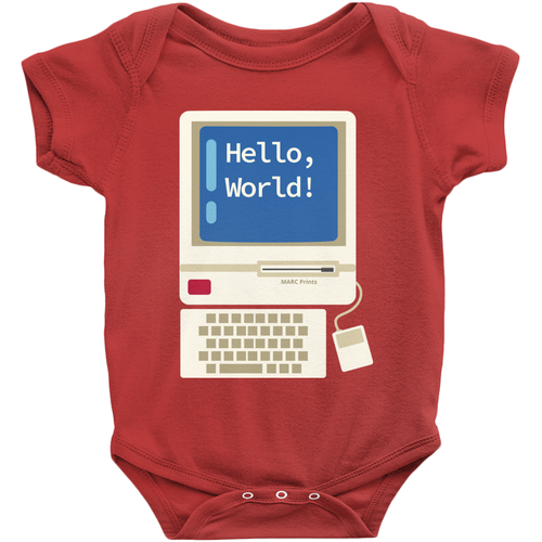 Hello World Junior Programmer Baby Onesie