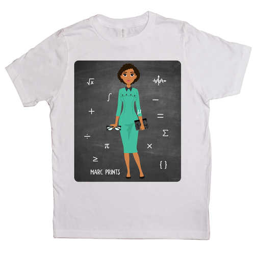 Mathematician Hidden Figure Kids T-Shirts