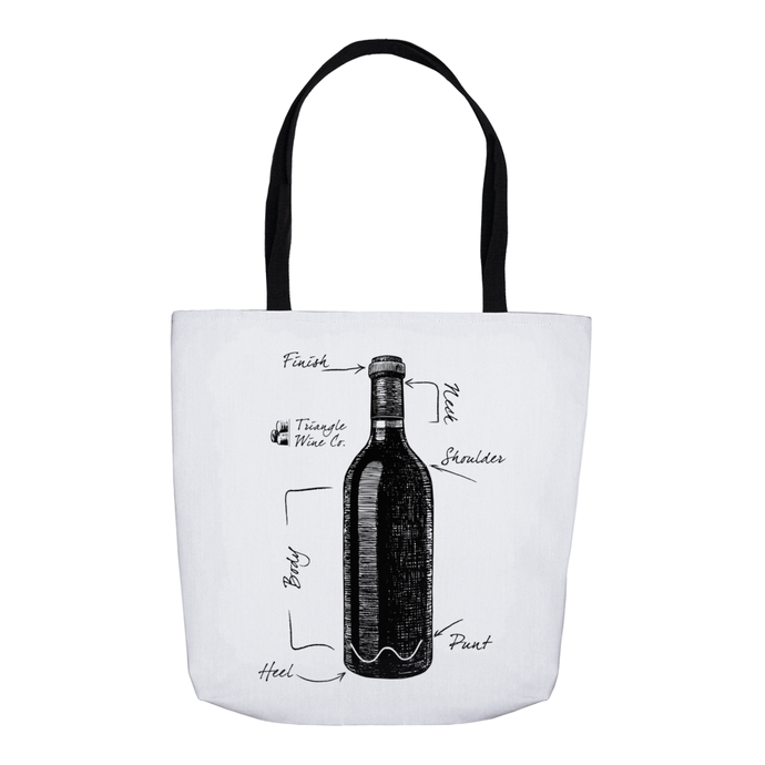 Anatomy of a Wine Bottle Tote Bag
