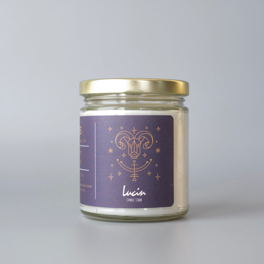Aries, Zodiac Candle