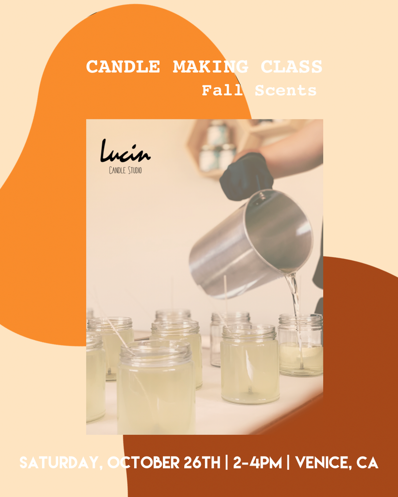 Candle Making Class, FALL SCENTS