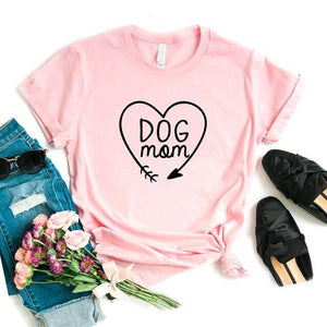 DOG MOM Heart T-Shirt 🐶🐕👩