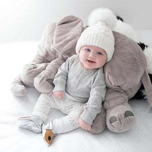2 PCS/set Mom Mother+Baby Knit Pom Bobble Hat