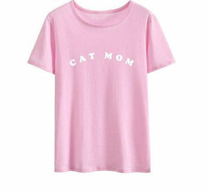 CAT MOM Letter T-Shirt 🐱🐈👩