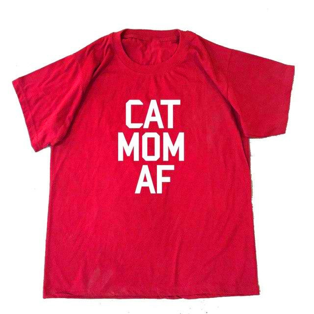 Cat mom Af T-Shirt 🐱🐈👩