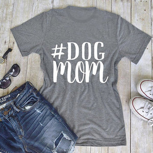 #DOG MOM O-Neck T-Shirt 🐶🐕👩
