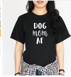 Dog Mom Af T'Shirt 🐶🐕👩