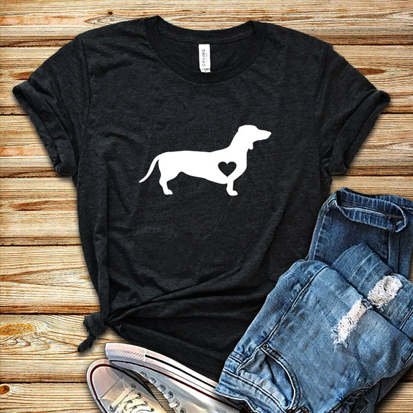 Dachshund Love Dog T-Shirt 🐶🐕👩