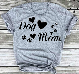 DOG MOM Paw T'Shirt 🐶🐕👩