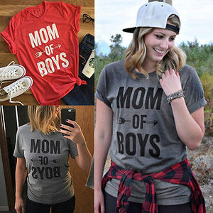 MOM OF BOYS t-shirt 👩