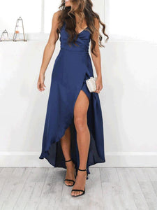 Sexy V Collar Slim Fit Maxi Dress