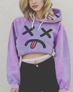 Casaul Loose Print Cartoon Hoodie Sweatshirt