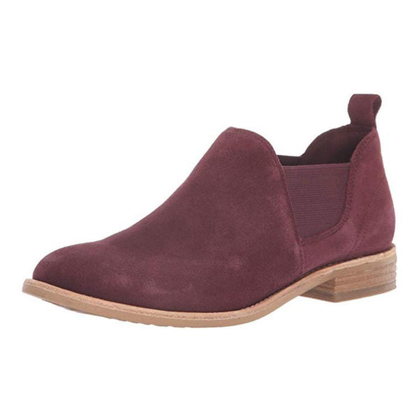 Plain  Chunky  Low Heeled  Velvet  Point Toe  Date Outdoor  Short Ankle Boots