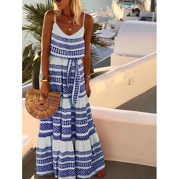 Gorgeous Bohemian Floral Printed Vacation Dress