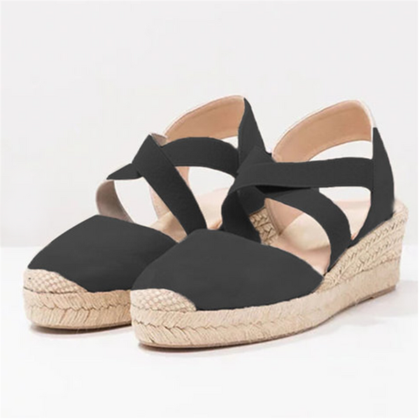 Fashion Straw Wedges Casual Shoes