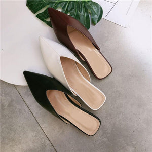 Fashion Vintage   Pointed Flat Slippers