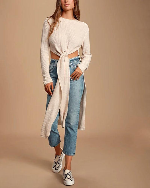 Fashion Sexy High Open Slit Sweater