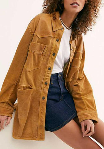 Fashion Casual Lapel Pockets Jacket