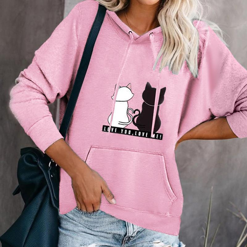 Fashion Leisure Printing Hooded Sweatshirt