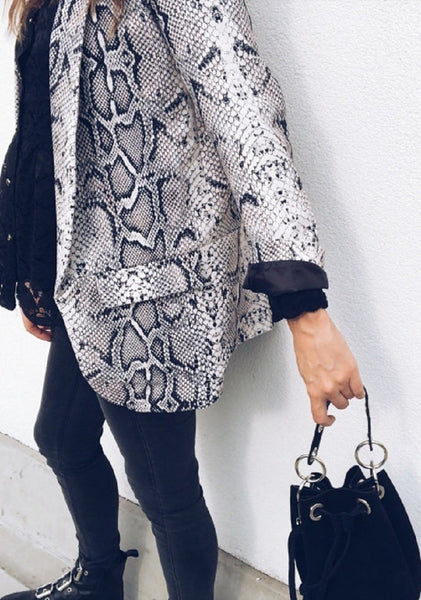 Fashion Snake Skin Suit Outerwear