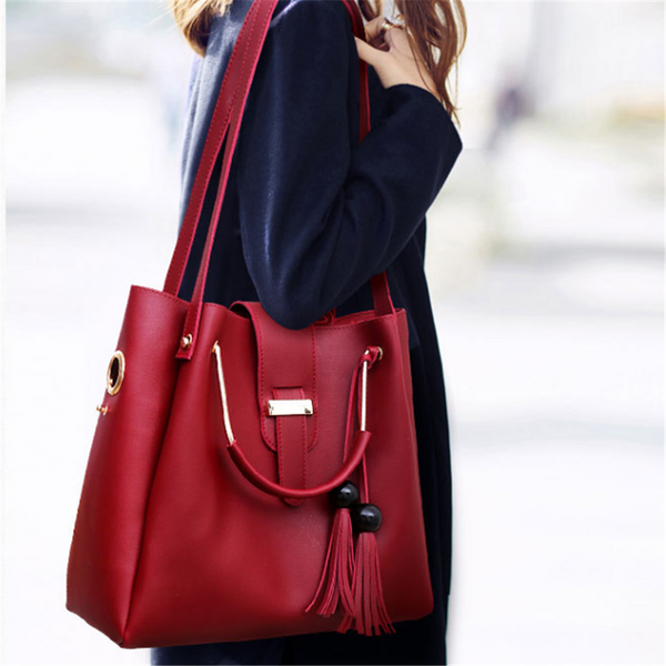 Fashion tassels three-piece crossbody bag