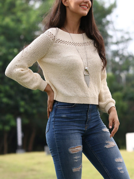 Light And Long-Sleeved Fashionable Knitwear Sweaters