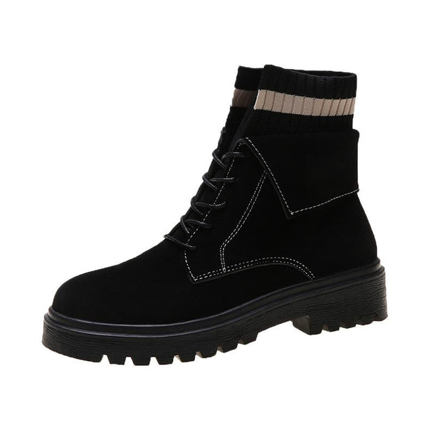 Women's Lace-up Scrub Short Martin Boots