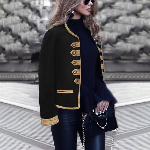 Leisure V-Collar Long Sleeve Jacket