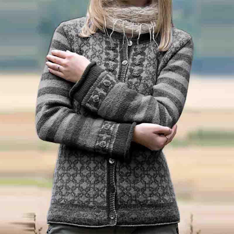 Casual Colouring Long Sleeve Sweater
