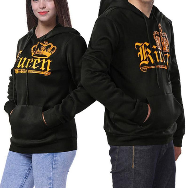 Hooded  Drawstring Patch Pocket  Letters Hoodies