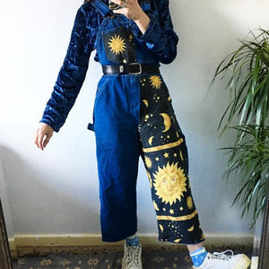 Women's fashion cartoon printed jumpsuit RS001