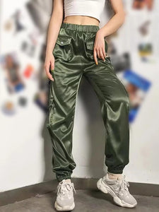 Women's Fashion Loose High Waist Pants