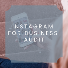 Load image into Gallery viewer, Instagram Business Audit