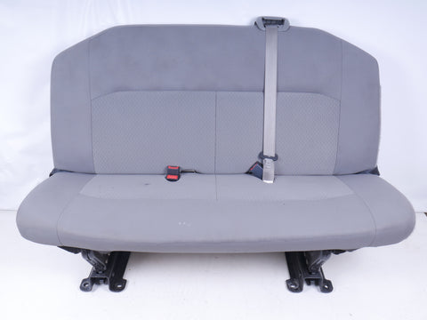 FORD ECONOLINE VAN 3 PERSON BENCH SEAT GREY CLOTH XLT 2008-2014