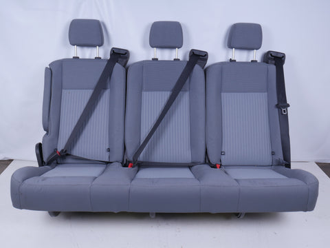 FORD TRANSIT 3 PERSON BENCH SEAT GREY CLOTH