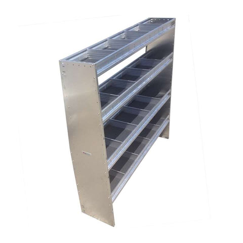 "TECH VANS SHELVING UNIT 4 LEVELS 60""W x 60""H x 14""D (NEW)"