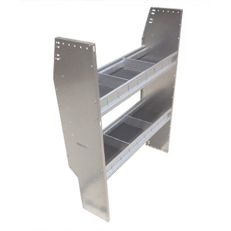 "ALUMINUM SHELVING UNIT 2 LEVELS 42""W x 46""H x 11""D (NEW)"