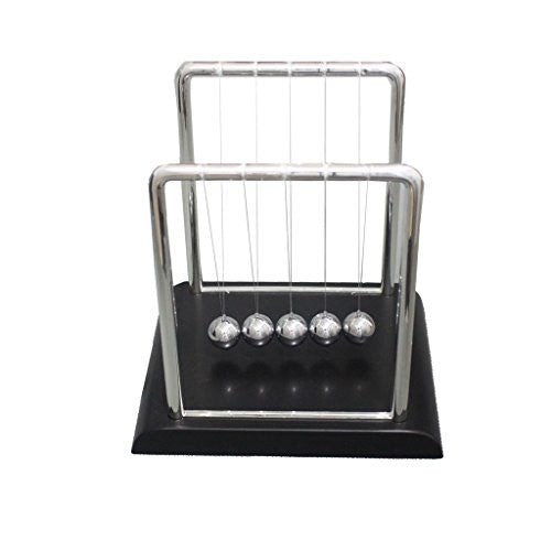 Geocero Physics Mechanics Science Toys - Newton's Cradle, Kinetic Art Asteroid, Perpetual Motion, Balance Balls Desk Toy Home Decoration, Home Office Desk Decoration (Newton's Cradle)