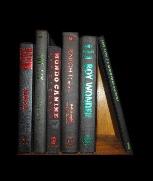 Christmas Holiday Season Themed Book Decor Set of 6 Hardcover Books Black Green and Red