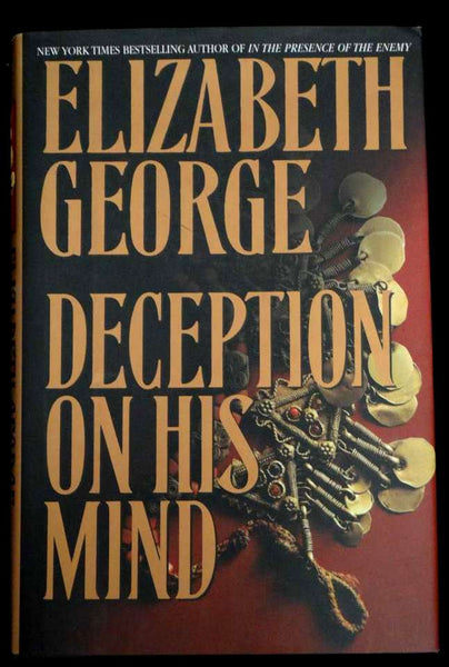 Deception on His Mind by Elizabeth George (1997, Hardcover)