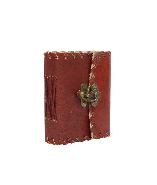 Pocket Genuine Leather Blank Journal with Latch