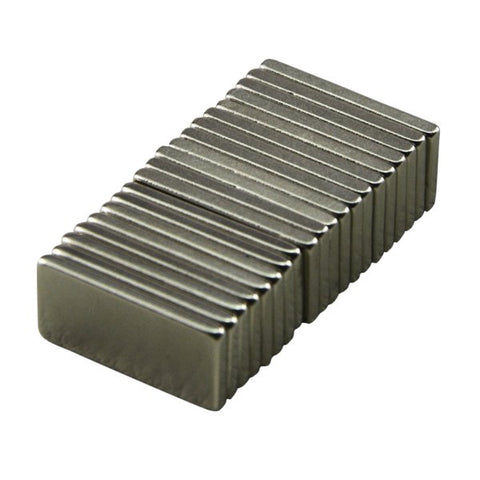 20x10x2 mm 10pcs/Lot Strong Block Cuboid Fridge Magnets Rare Earth Neodymium