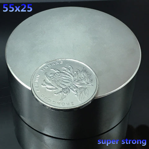1 N52 55x25mm round strong neodymium magnet 55*25mm strong Rare Earth Magnetic powerful super strong magnets