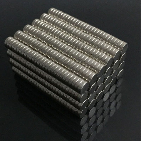 100pcs Neodymium N35 Dia 4mm X 2mm Strong Magnets Tiny Disc NdFeB Rare Earth For Crafts Models Fridge Sticking